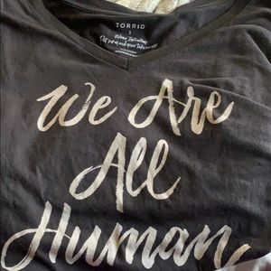 TORRID 'we are all human' t-shirt